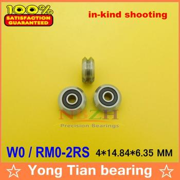 1 pz RM0-2RS/W0SSX W0X 4*14.84*6.35 millimetri v wheeles W Groove Ball Bearing Sealed 440C