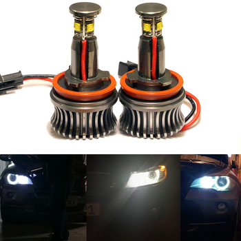 1 Set H8 Angel Eyes luce 20 W Angel Eyes Faro Anteriore Kit Led H8 Lampada Della nebbia per per BMW X5 E70 X6 E71 E90 E91 E92 M3 E60
