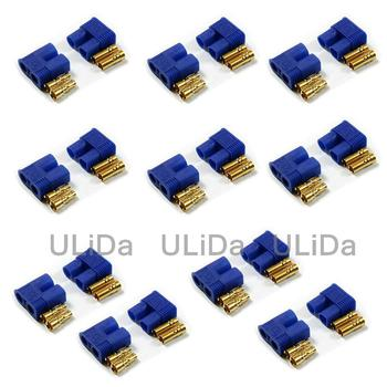 10 PAIRS Male & Female Connettore Batteria Lipo RC EC3 Oro Pallottola Spina-EC3x10