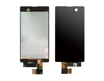 10 pz/lotto per sony xperia m5 nuove parti del telefono cellulare display lcd touch screen digitizer assembly nero/bianco trasporto libero del dhl