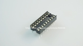 "100 pz/lotto 0.100 ""2.54mm IC socket Stretto 18 Posizione 2x9 18 Pin Fila spaziatura 7.62mm DIP Through hole solder PCB"