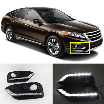 12 v led drl per honda crosstour led daytime running light daylight nebbia lampada