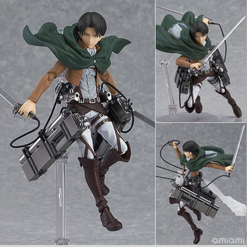 14 cm attacco anime su titan legion scouting shingeki no kyojin Levi figma 213 action pvc figure model collection toy gift Eren
