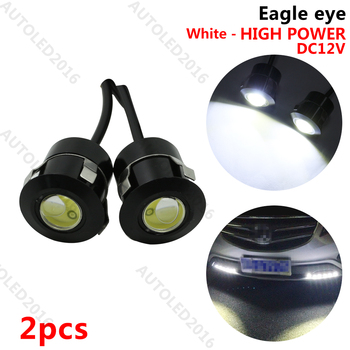 2 pz 12 V 7 W Reverse Sensore Laser Eagle Eye Auto Car Door Light & LED DRL Impermeabile per Toyota Renault Opel BMW LADA ecc