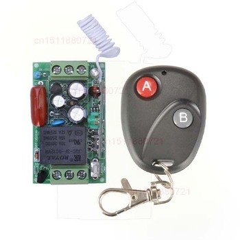 220 V 10A 1CH Ricevitore e Trasmettitore RF Wireless Remote Control Interruttore Codice Learning System Per LED ON/OFF