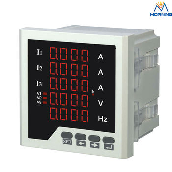 3UIF35 trifase amperometro voltmerer Cymometer LED digital ampere tensione e frequenza 5 linee display meter combinata