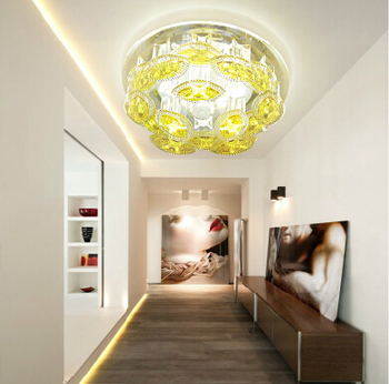 5W Round mordern led crystal ceiling light aisle ceiling lighting luxury crystal ceiling lamp