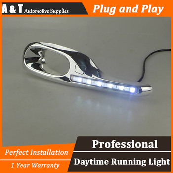A & t car styling per honda fit led drl per la misura di alta luminosità guida LED DRL led fendinebbia luci diurne a led