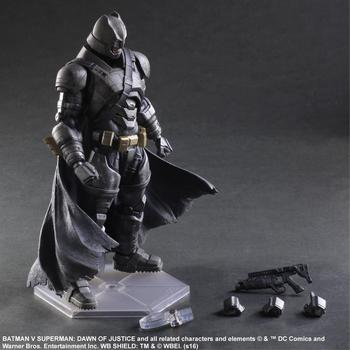 Batman Action Figure Gioca Arts Kai Batman v Superman Dawn Of Justice Anime Da Collezione Model Toy Pesantemente corazzato Playarts Kai