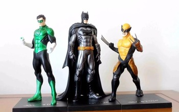 Batman Wolverine Figura Justice League Lanterna Verde ARTFX + Statua X MEN Arma X Iron Man Action Figure Model Collection giocattolo