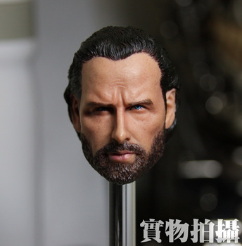 Brand new 1/6 della scala the walking dead rick grimes (andrew Lincoln) testa sculpt accessori per 12 ''action figure model toy