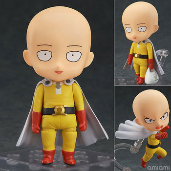 "Carino Nendoroid ONE PUNCH-MAN Saitama #575 PVC Action Figure Da Collezione Model Toy 4 ""10 cm"