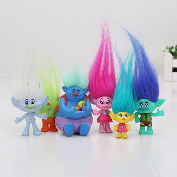 Disney 6 Pz/set 2-6 cm Dreamworks Trolls Movie Figure Da Collezione Bambole Papavero Ramo Biggie PVC Trolls Giocattolo Action figure Doll