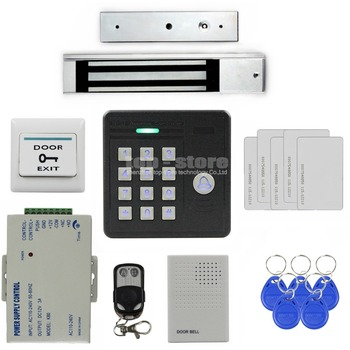DIYSECUR Impermeabile 125 KHz Rfid Card Reader Password Tastiera + 280 kg Serratura Magnetica + Telecomando di Controllo di Accesso di Sicurezza Kit