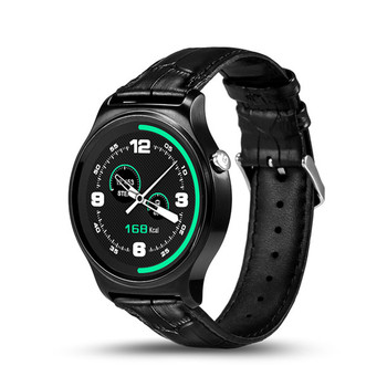 GW01 Intelligente Orologio Bluetooth 4.0 Cardiofrequenzimetro SmartWatch Per Android 4.3 iOS 7 IPS Schermo Rotondo Resistente All'acqua Vita