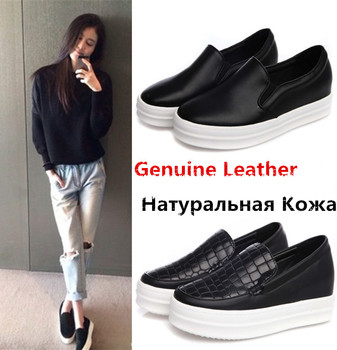 HOT 2016 Estate Autunno Signore Slip On Donne In Rilievo GENUINO LEATHEATHER Flats Shoes mocassini Sapatos Femininos Zapatos Mujer