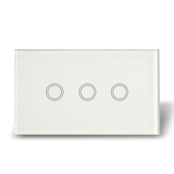 Il trasporto Libero, commercio all'ingrosso 5 pz/lotto, US Tipo Touch Control Light Switch 3 Gang, AC110-240V