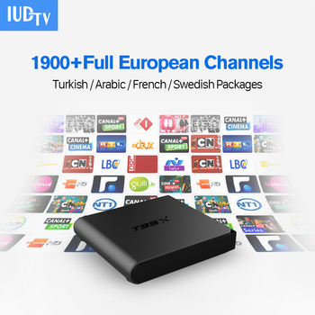 Intelligente Android IPTV Set Top Box Ricevitore TV con 1700 + Live Canali IPTV Europa Arabo Francese Paesi Bassi Canali IUDTV 1 anno