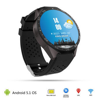 Kw88 android 5.1 smart watch 512 mb + 4 gb bluetooth 4.0 wifi 3g del telefono smartwatch da polso supporto google gps voice mappa
