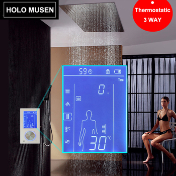 LCD Touch Screen Intelligente Digitale Pannello Doccia Doccia Miscelatore Termostatico Doccia Termostato di Regolazione Digitale Douche Thermostaat
