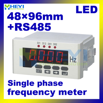 LED digital Frequenza hz meter 48mm * 96mm monofase frequenza digitale metri con comunicazione RS485