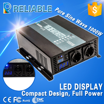 LED display digitale 12 v 110 v 1000 w inverter onda sinusoidale pura solar power inverter auto convertitore dc ac inverter home inverter