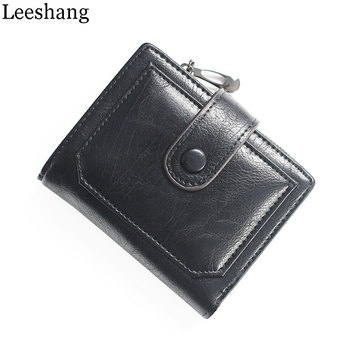 Leeshang New Wallet Women Luxury Brand Vintage Small Wallets Women Short Wallet with Coin Pocket Zipper Pu Leather Clutch Bag