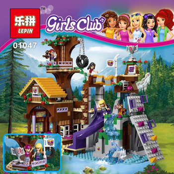 Lepin 01047 784 Pz Ragazze Serie L'avventura Camp Tree House Divertimento Bambini Educational Building Blocks Giocattoli dei Mattoni del Regalo 41122