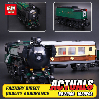 LEPIN 21005 serie lo Smeraldo Notte modello building blocks set Classic treni Giocattoli 10194 Educational DY Regalo Steam compatibile
