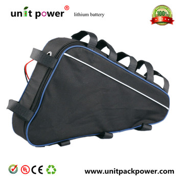 Libero doganale duty potente triangolo 48 v 750 w mountain bici elettrica 48 v 17ah li-ion battery pack