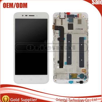 New black per vodafone smart prime 7 vfd600 lcd full display touch screen digitizer assembly vetro con telaio di ricambio