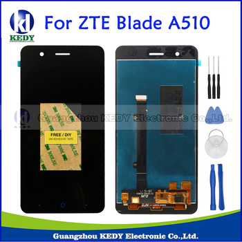 Original Black Completa DIsplay LCD + Touch Screen Digitizer Assembly di Ricambio pezzi di Ricambio Per ZTE Blade A510 BA510 BA510C + strumenti