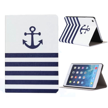 Per ipad mini 1 2 3 striato anchor copertura pad case per ipad mini 1 2 3 retina protezione del basamento case cover 1 pc
