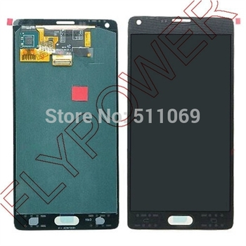 Per Samsung Per Galaxy Note 4 N9100 LCD Screen Display con Touch Screen Digitizer Assembly da dhl, UPS o SME; grigio; HQ