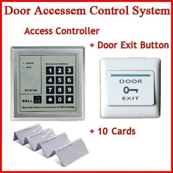 Ping Sistema di Controllo Accessi con Porta di Uscita Push Button Switch + 10 rfid ID card