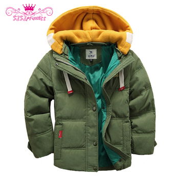 Sisiprincess Stile Coreano Doppia Altezza Hooded Zipper e Button Regular Manica Lunga Addensare Ragazzi Parka Spedizione Gratuita 8.5
