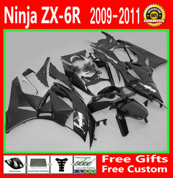 SME libero Abs kit Carenatura Per Kawasaki NINJA ZX6R 2009 2010 2011 09 10 11 nero Carrozzeria Carenature g20