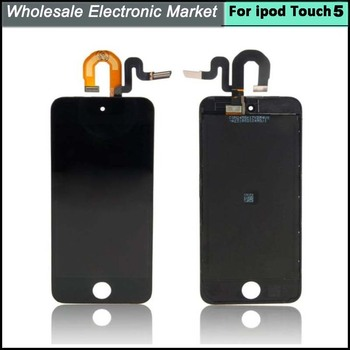 Trasporto libero del dhl per ipod touch 5 schermo lcd + touch screen digitizer assembly completo nero