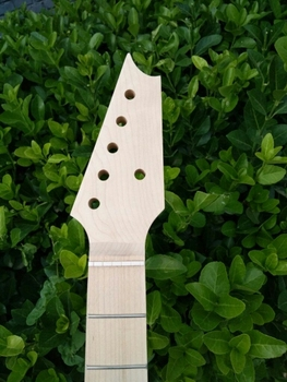 "Un 25.5 ""22 fret chitarra elettrica unfinished testa di acero fatto e fingerboar dot inlay"