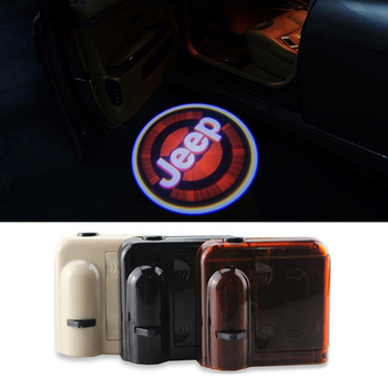 Wireless No Drill Magnetica Auto LED Door Benvenuti Proiettore Logo Dell'ombra Del Fantasma Del Laser Luci per JEEP