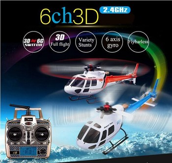 Wltoys V931 6CH Motore Brushless Flybarless con 3 Axis Gyro 3 Lama AS350 Scala remote control rc Helicopter